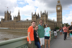 Uncle Jerry and kids at Houses of Parliament