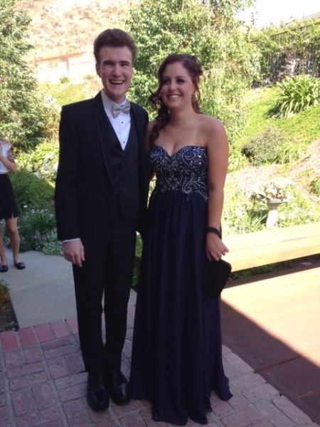 Joshua and Nina before Prom