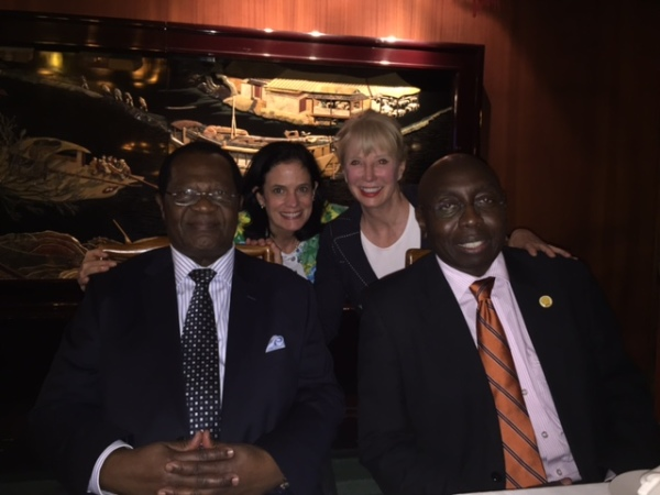 Justice Bigelow and Judge O'Connell with Former CJ Odoki and Justice K